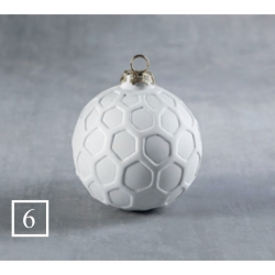 BQ SM HEXAGON ROUND ORNAMENT