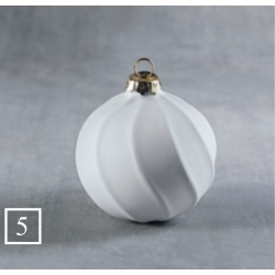 BQ SM RIBBON STRIPED ORNAMENT