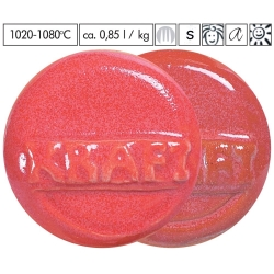 Email poudre rouge framboise 1020-1080°C